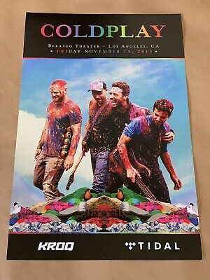 COLDPLAY Concert Poster Belasco Theater Los Angeles 11/13/15 Exclusive LA KROQ • 15.74£
