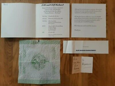 Cliff Richard Signed Items And Invitation To 50th Birthday Album Release Party  • 25£