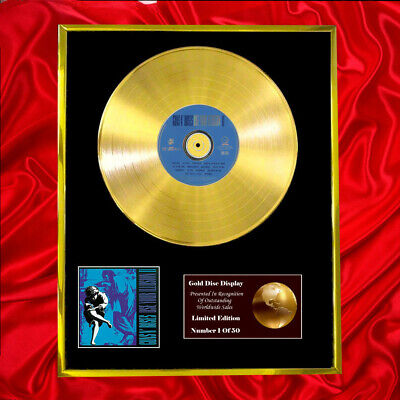 Guns 'n' Roses Illusion Ii Cd Gold Disc Record Vinyl  • 160.95£