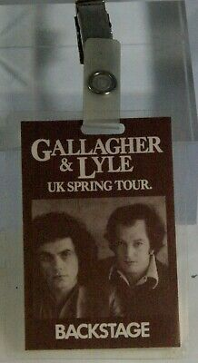 Gallagher And Lyle Pass Backstage Vintage UK Spring Tour 1978 • 30£