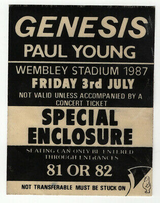 Genesis Paul Young Pass Wembley 1987 • 12.50£