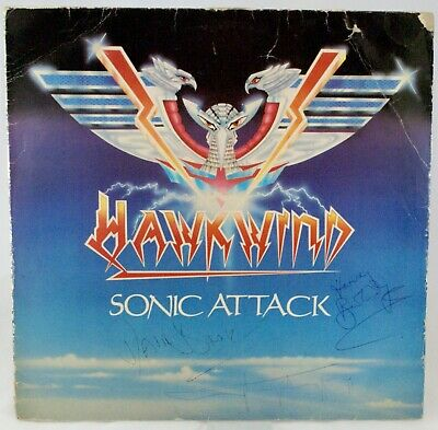 Hawkwind Signed X 3 Sonic Attack LP Signed In The 80s • 150£