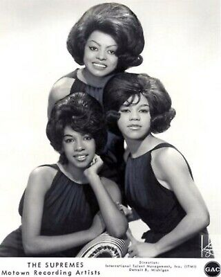 "Superb The Supremes 10"" X 8"" Black & White Press Photograph • 3£"