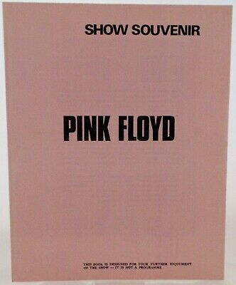 Pink Floyd Programme Dark Side Of The Moon Developmental Gigs 1972 • 225£