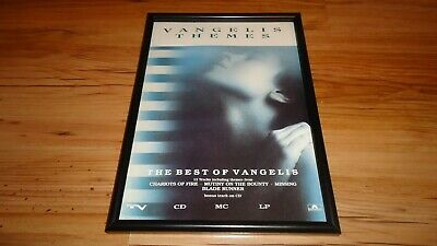 VANGELIS Themes-framed Original Advert • 11.99£