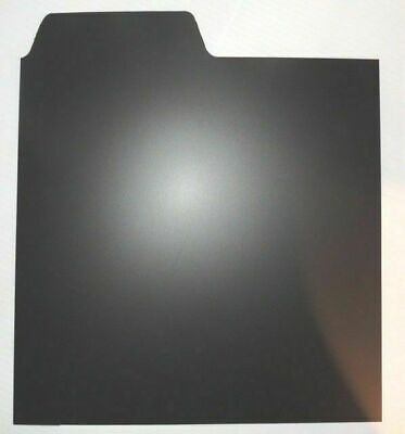 Set Of 25 X 12  Plastic Vinyl Record Wipeable Dividers [Black]  + 24h Delivery • 19.95£