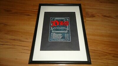 DIO 2009 Tour-framed Original Advert • 11.99£