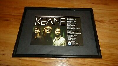 KEANE 2007 Tour-framed Original Advert • 11.99£