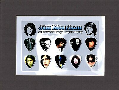 Jim Morrisson Doors Matted Picture Guitar Pick Set Light My Fire Love Her Madly • 22.31£
