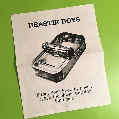 """Beastie Boys - """"If They Don't Know By Now..."""" Capitol Records Timeline/Info Pack • 14.29£"""