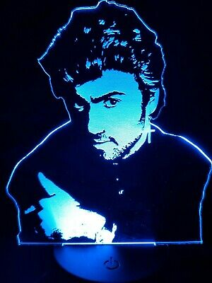 George Michael Engraved  3D Acrylic LED Neon Lamp Faith • 20£
