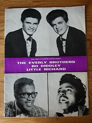 1963 Concert Programme Everly Brothers And The Rolling Stones • 50£