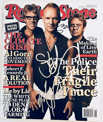 The Police Signed Rolling Stone Magazine Sting Summers Copeland Group Auto • 497.10£