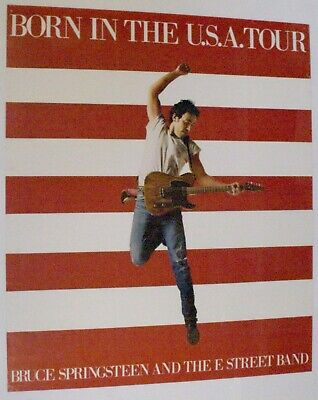 Bruce Springsteen Poster Vintage Born In The USA - UK Tour 1985 • 55£