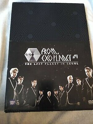 Exo Plannet #1 The Lost Planner In Seoul 3 Disc DVD W/ 12 Photobooks • 21£