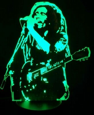 Bob Marley Reggae Acrylic Engraved LED Lamp • 20£