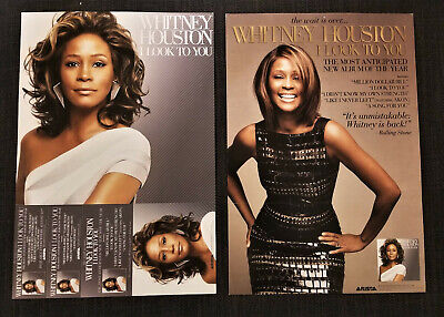 Lot Of FIVE! Whitney Houston I Look To You Official PROMO Poster Flat 12 X 18 • 22.22£