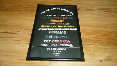 THE BETA BAND-framed Original Advert • 11.99£