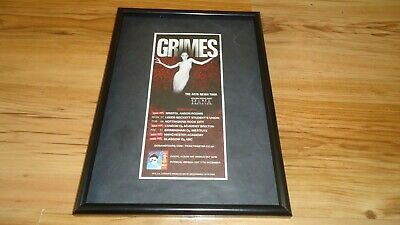 GRIMES 2016 Tour-framed Original Advert • 11.99£