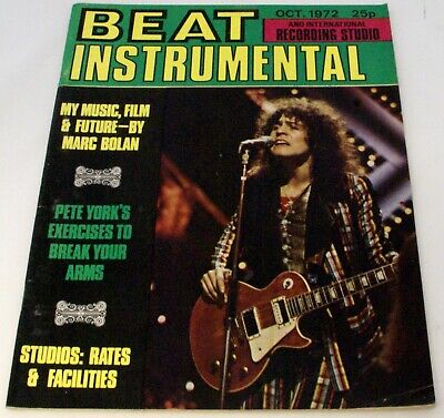 T Rex Marc Bolan Magazine Beat Instrumental No. 113 October 1972 • 25£