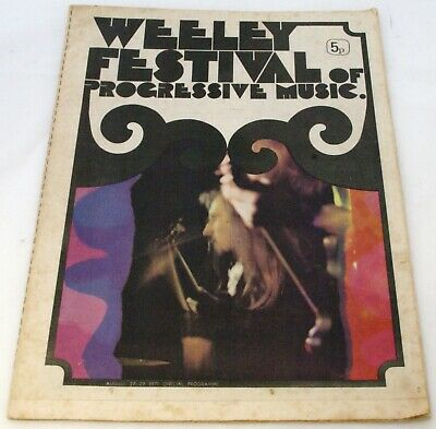 T Rex Marc Bolan Quo Faces King Crimson + Others Programme Weeley Festival 1971 • 85£