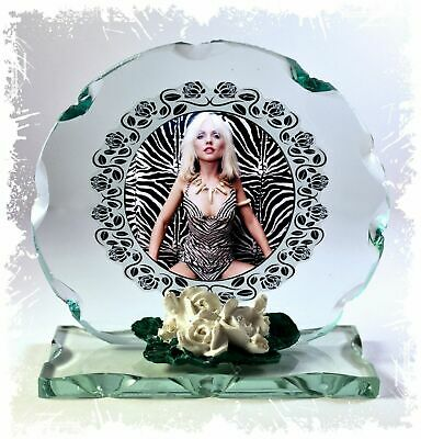 Blondie, Sunday Girl, Cut Glass Round Plaque Limited Edition | Cellini Plaques  • 27£