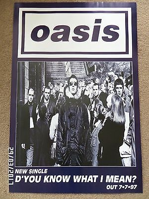 Oasis D'you Know What I Mean? Original 1997 Promo Poster. • 16.99£