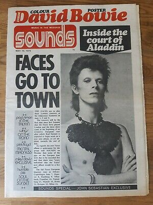 Sounds Music Newspaper May 19th 1973 David Bowie Cover And Colour Poster • 25£