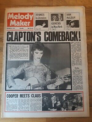 Melody Maker Newspaper December 23rd 1972 David Bowie Cover • 16£