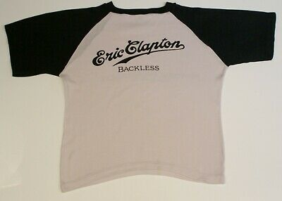 Eric Clapton Shirt Vintage Backless Tour Hanley 1979 • 60£