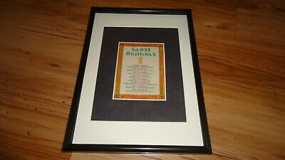 GLASS ANIMALS 2017 Tour-framed Original Advert • 11.99£
