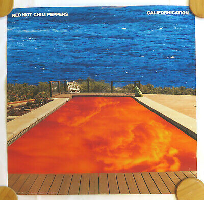 Red Hot Chili Peppers Vintage Poster 90's 1999 Label Promo Californication • 22.33£