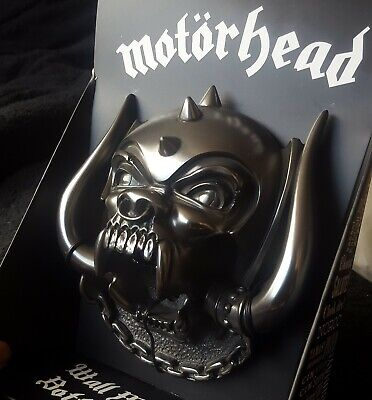 Motorhead Official Beer Bottle Opener Wall 3D Figure Statue Figurine Warpig NEW • 44.95£