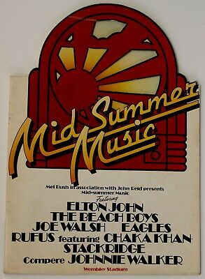 Elton John Beach Boys Eagles Program Vintage Mid Summer Music Wembley 1975 • 20£