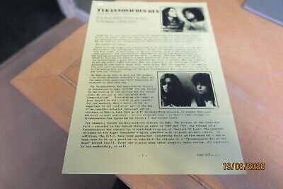 Marc Bolan - Tyrannosaurus Rex - 8 Rare Fan Club Items - Look • 19.99£