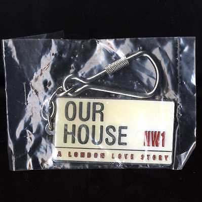 Our House Madness Musical - Official Enamel / Chrome Keyring - Suggs Two 2 Tone • 2.25£