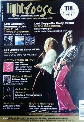 Led Zeppelin Tight But Loose Magazine #37 Page Plant Rare! • 9.99£