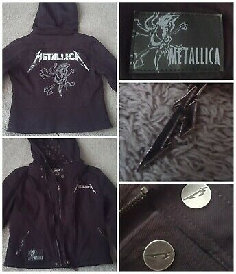 Metallica Official Hoodie Zip + Jacket Removable Hood Embroidered RRP Emp  £169 • 39.95£