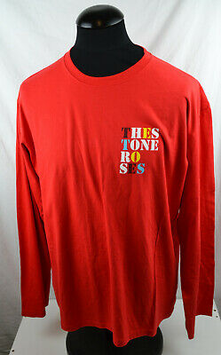 RARE The Stone Roses Heaton Park Long Sleeve T Shirt Red XL 29th June 2012 • 44.99£