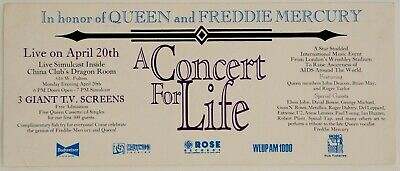 Queen Flyer Vintage Freddie Mercury Tribute Concert 1992 • 25£
