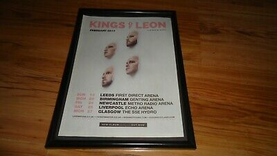 KINGS OF LEON 2017 Tour-framed Original Advert • 11.99£