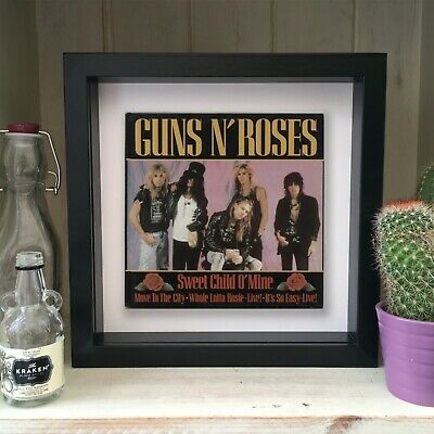 Guns N Roses - Sweet Child O Mine - Framed Artwork Picture Sleeve 1988 • 19.99£