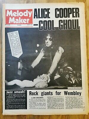 Melody Maker Newspaper July 8th 1972 Alice Cooper COOL Ghoul Cover  • 20£