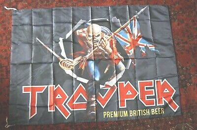 2017  World Tour Iron Maiden Trooper Beer Flag /Wall Hanging 52 By 36 In. Fabric • 17£