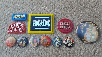 Vintage Pop & Rock/Metal Pin Button Badge Bundle.... • 0.99£