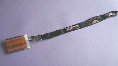 2017  World Tour Iron Maiden Book Of Souls Pass? On Lanyard And Wrist Band. • 15£