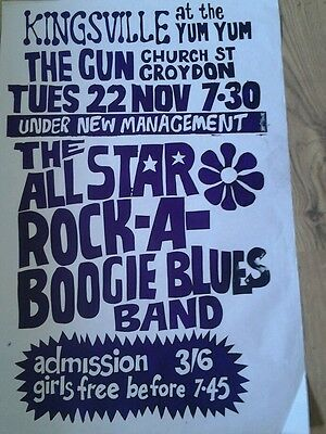 1966 Poster 'ALL STAR BOOGIE BAND'  • 14.99£