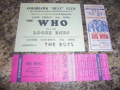 The Who Career Concert Memorabilia • 2.50£