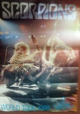 Scorpions Poster World Tour 1980 • 3.25£