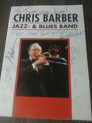 Chris Barber Jazz - & Blues Band Multiple Signed / Autographed Programme • 10£